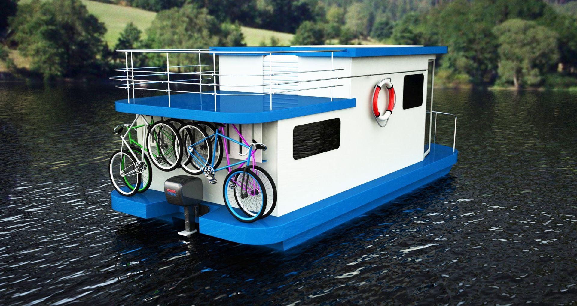 houseboat-stairway